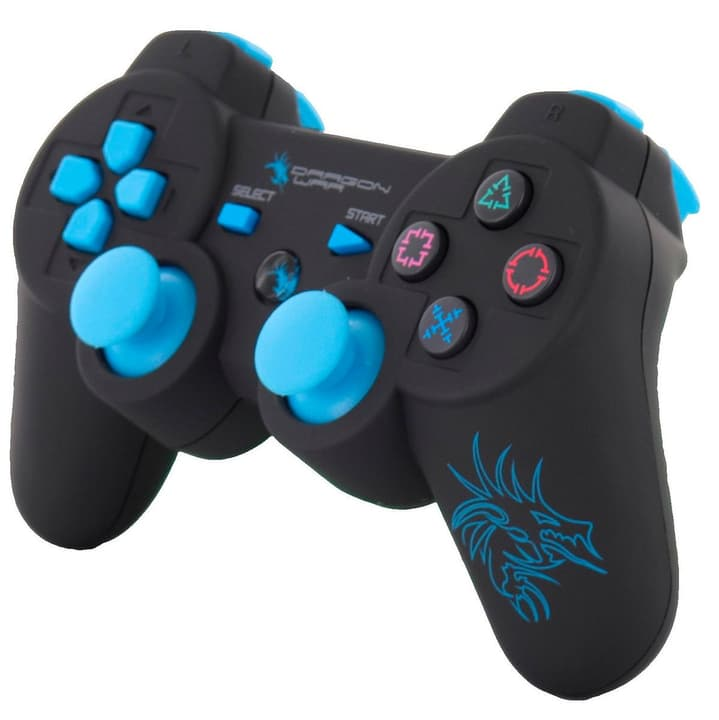 Dragon Shock Bluetooth PS3 Controller nero/blu Dragon War 785300127257 N. figura 1