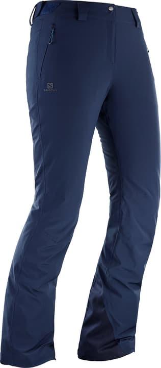 Icemania Pant W Pantalone da sci da donna Salomon 462539600643 Colore blu marino Taglie XL N. figura 1