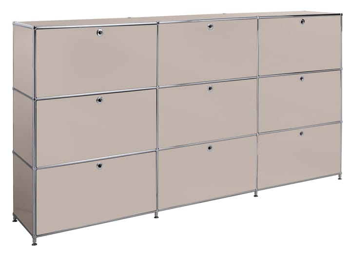 FLEXCUBE Buffet haut 401815030388 Dimensions L: 227.0 cm x P: 40.0 cm x H: 118.0 cm Couleur Gris taupe Photo no. 1