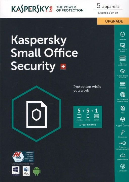 Small Office Security Upgrade (5 Devices) [PC] D/F/I Physique (Box) Kaspersky 785300121542 Photo no. 1