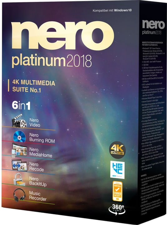 Nero Platinum 2018 Fisico (Box) Nero 785300131752 N. figura 1