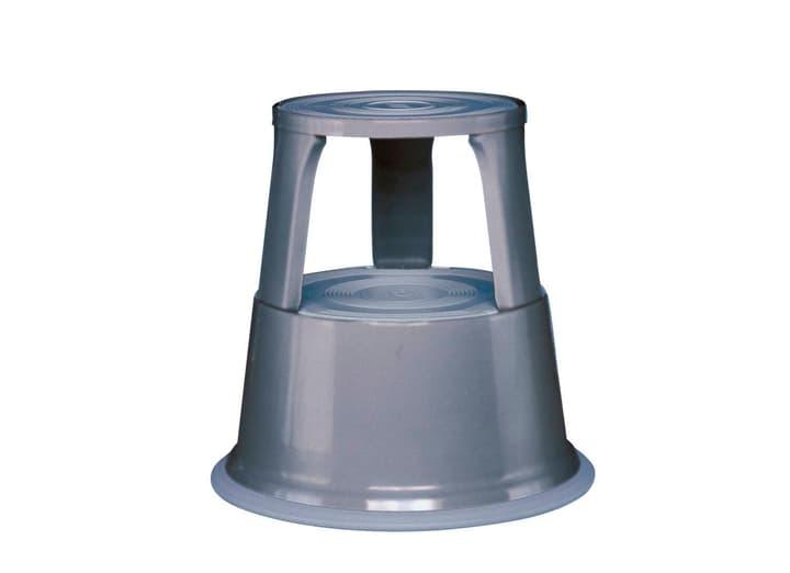 Sgabello a rotelle rientranti grigio 630912100000 N. figura 1