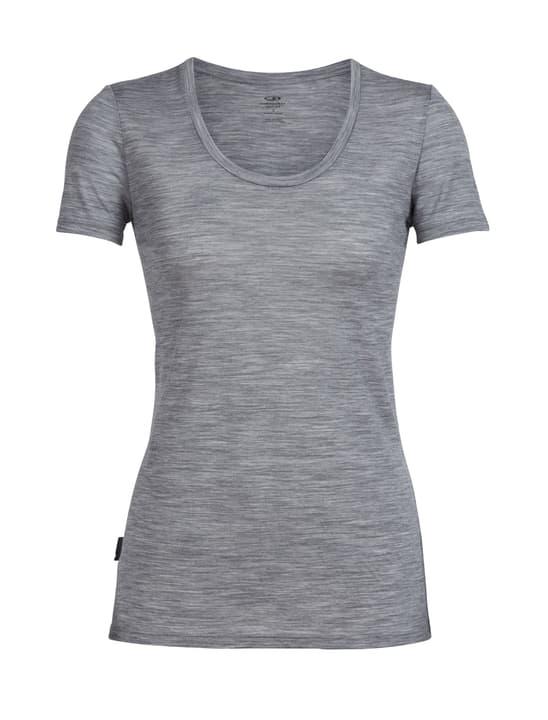 Spector Scoop t-shirt à manches courtes pour femme Icebreaker 477069800381 Couleur gris claire Taille S Photo no. 1