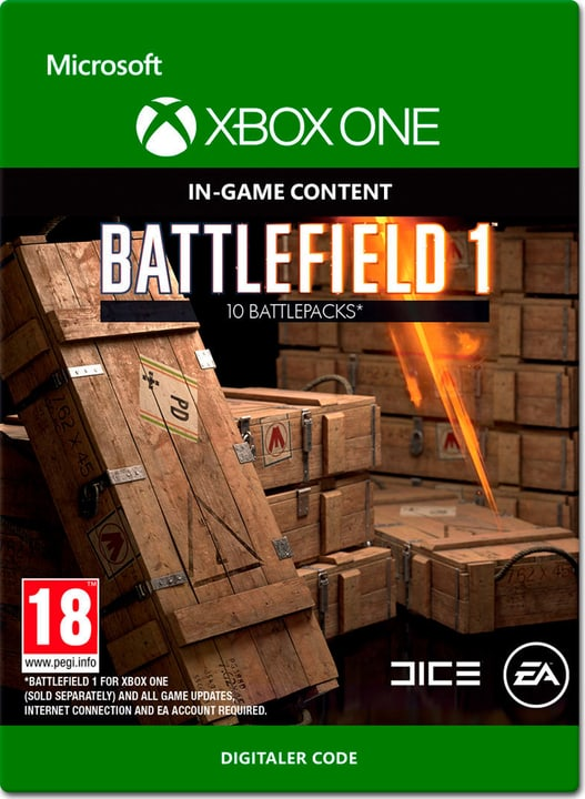 Xbox One - Battlefield 1: Battlepacks x10 Download (ESD) 785300137303 N. figura 1