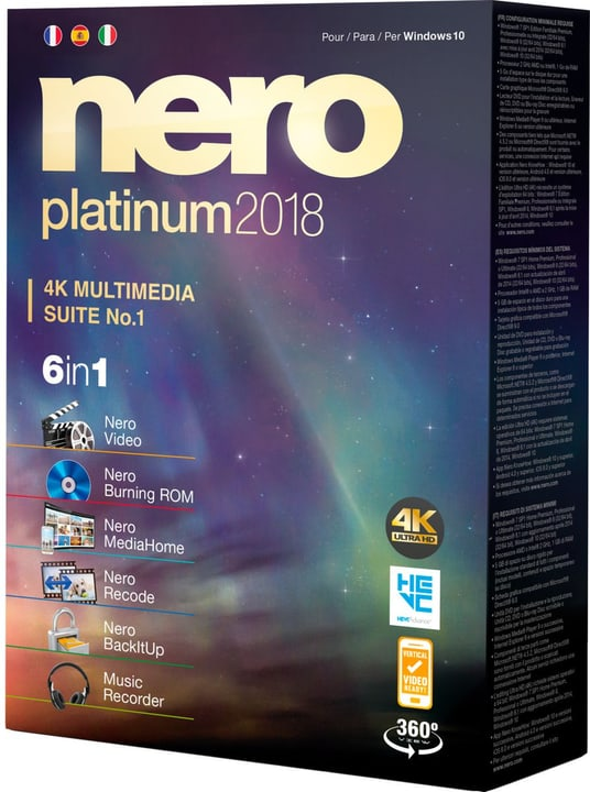 Nero Platinum 2018 Nero 785300131753 Photo no. 1