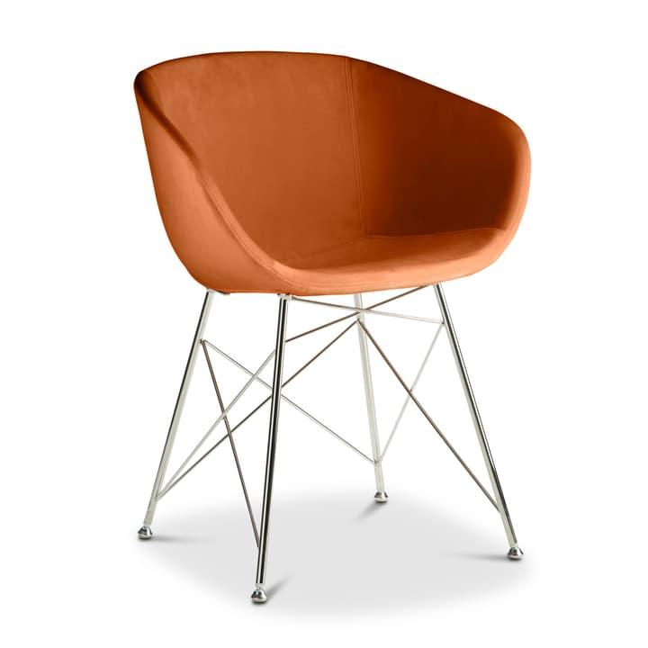 SEDIA Chaise avec accoudoirs 366170900000 Couleur Orange Dimensions L: 45.0 cm x P: 58.0 cm x H: 81.0 cm Photo no. 1
