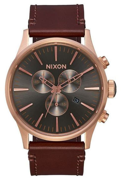 Sentry Chrono Leather Gold Brown 42 mm Orologio da polso Nixon 785300137063 N. figura 1