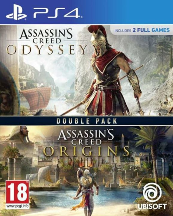 PS4 - Assassin's Creed Odyssey + Assassin's Creed Origins - Double Pack Box 785300146502 N. figura 1