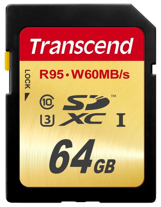 SDXC Card Ultimate R95/W60 64GB Transcend 785300126733 Bild Nr. 1