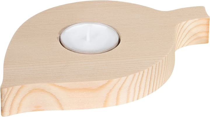 Feuille en bois avec bougie Legna Creativa 664987200000 Photo no. 1