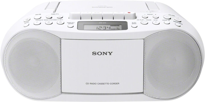 CFD-S70W - Blanc Radio CD Sony 773116400000 Photo no. 1