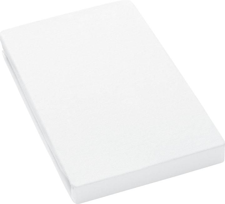 LANA Lenzuolo teso in jersey 451052130310 Colore Bianco Dimensioni L: 90.0 cm x A: 200.0 cm N. figura 1