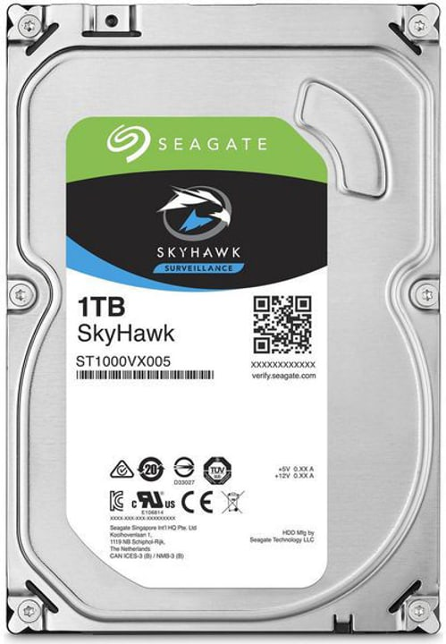 "SkyHawk HDD - 3.5"" SATA 6Gb/s - 1To Disque Dur Interne HDD Seagate 785300133752 Photo no. 1"