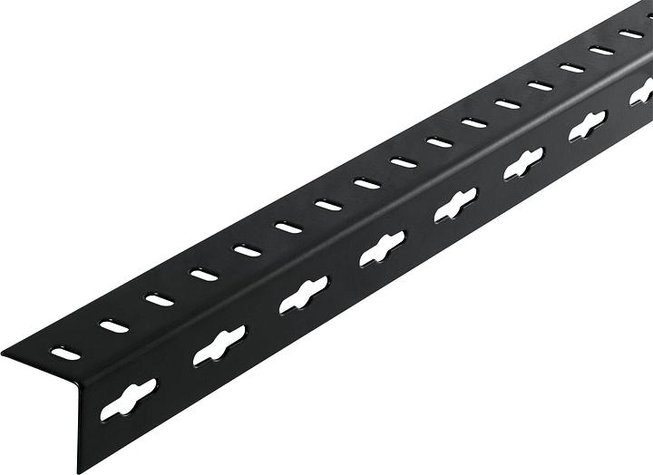 Cornière isocèle 1.5 x 35.5 mm perforé noir 1 m alfer 605036200000 Photo no. 1