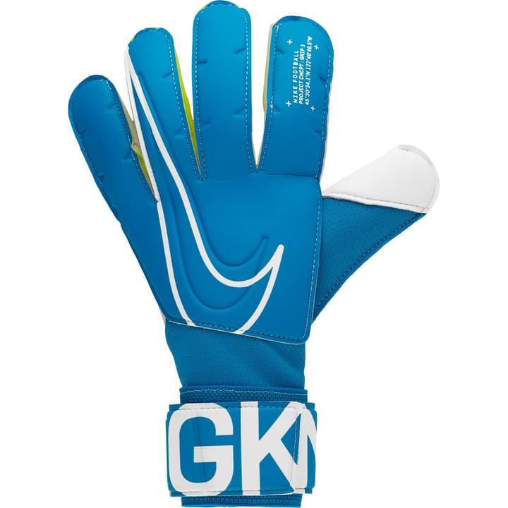 Match Goalkeeper 3 Gants de gardien de but de football Nike 461948207040 Couleur bleu Taille 7 Photo no. 1