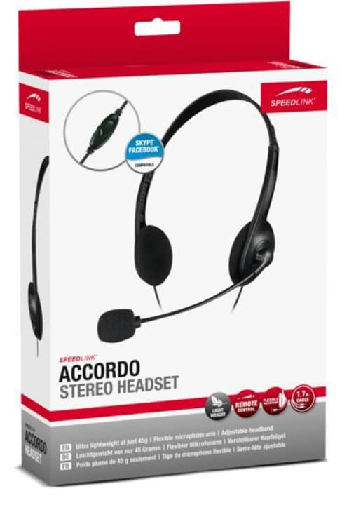 ACCORDO Casques-micros Stereo Speedlink 797970800000 Photo no. 1