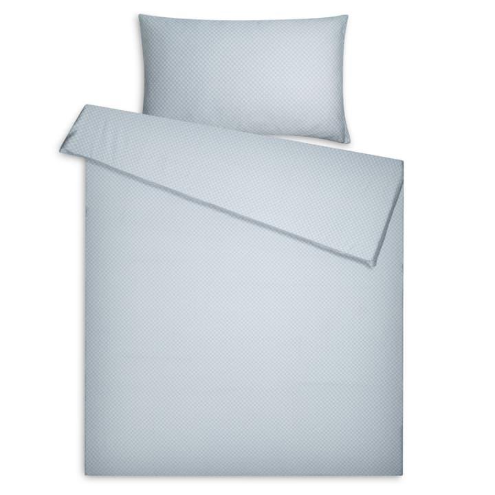 LIAM Satin-Kissenbezug 376076110640 Grösse L: 65.0 cm x B: 65.0 cm Farbe Blau Bild Nr. 1