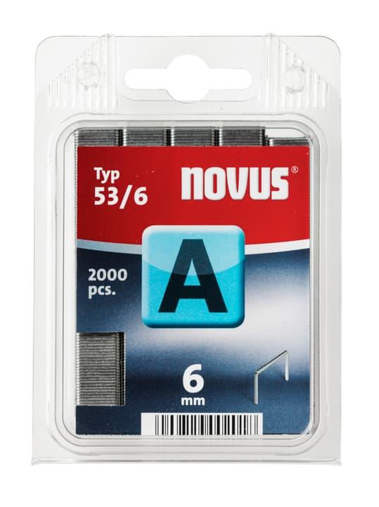 Feindrahtklammern A Typ 53/6 NOVUS 601255600000 Grösse 6 mm / 2'000x Bild Nr. 1