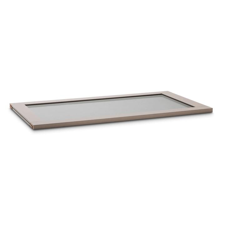 MILO Mensola con struttura in vetro affumicato 364063000000 Dimensioni L: 98.7 cm x P: 53.0 cm x A: 2.2 cm Colore Nocciola N. figura 1