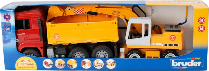 Camion benne MAN et pelleteuse Liebherr 746237100000 Photo no. 1