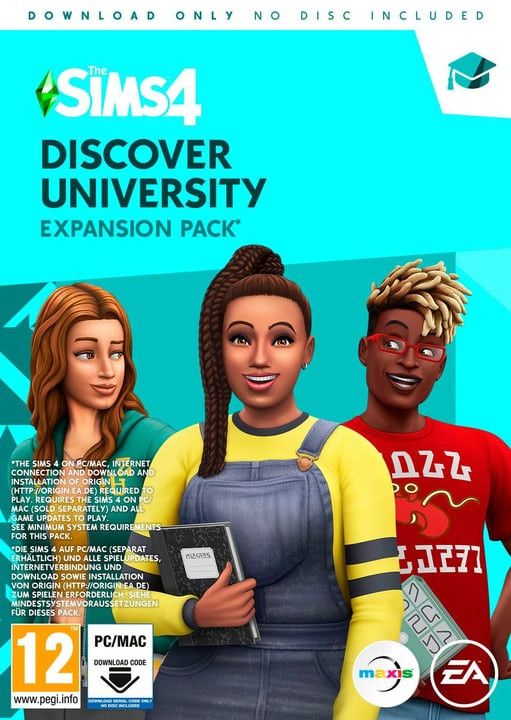 PC - Die Sims 4 + Discover University Bundle Box 785300148427 Bild Nr. 1