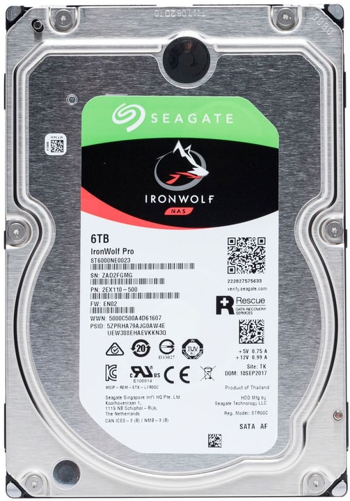 "IronWolf Pro SATA 3.5"" 6 TB Disque Dur Interne HDD Seagate 785300145843 Photo no. 1"