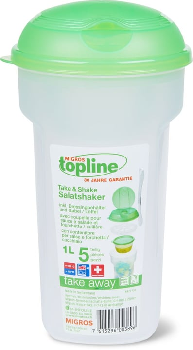 TAKE AWAY Salatshaker 1.0L M-Topline 703706700060 Couleur Vert Dimensions H: 22.0 cm Photo no. 1