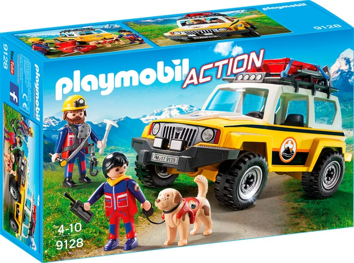 Playmobil Action Jeep soccorso alpino 9128 746076500000 N. figura 1