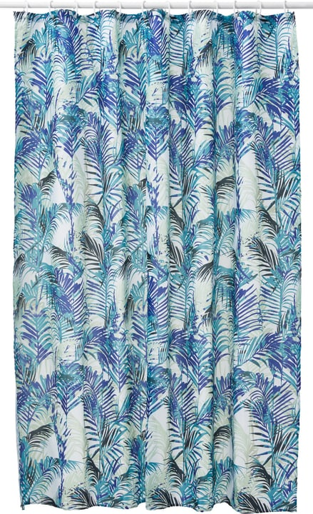 LEANDRO Rideau de douche 453153953440 Dimensions L: 180.0 cm x H: 180.0 cm Couleur Bleu Photo no. 1