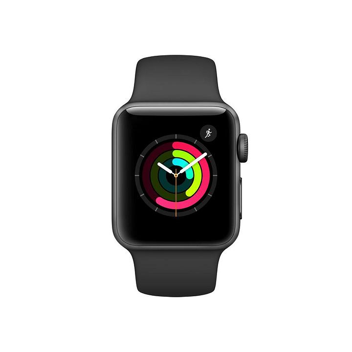 Watch Series 2, 38mm Boîtier en aluminium gris sidéral avec Bracelet Sport noir Apple 798150100000 Photo no. 1