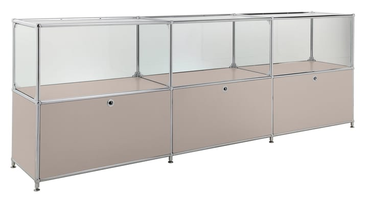 FLEXCUBE Sideboard 401814530288 Grösse B: 227.0 cm x T: 40.0 cm x H: 80.5 cm Farbe Taupe Bild Nr. 1