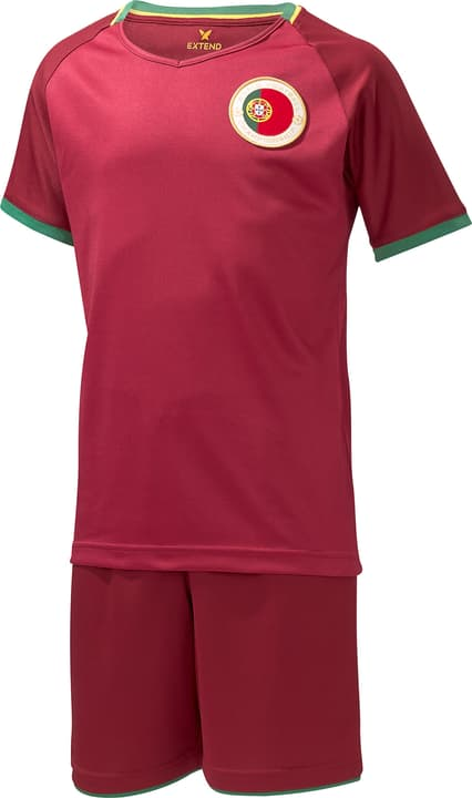 Set de supporter de foot pour enfants Portugal Extend 464559111188 Couleur bordeaux Taille 110/116 Photo no. 1