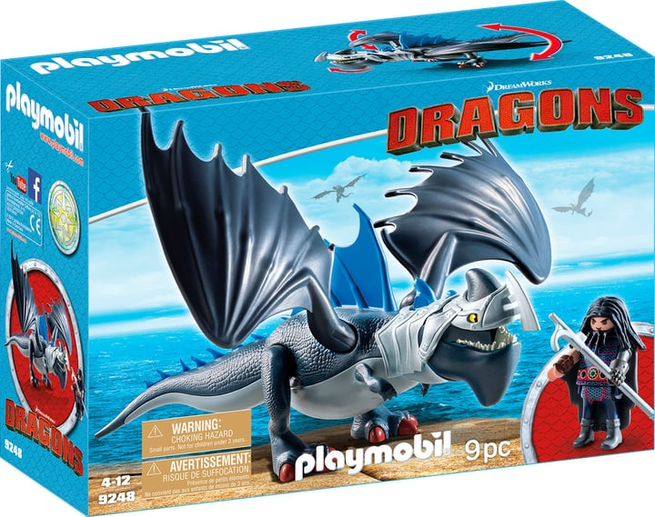 Playmobil Dragons Drago avec dragon de combat 9248 746086600000 Photo no. 1