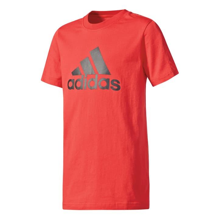 YB LOGO TEE Shirt pour garçon Adidas 464519312830 Couleur rouge Taille 128 Photo no. 1
