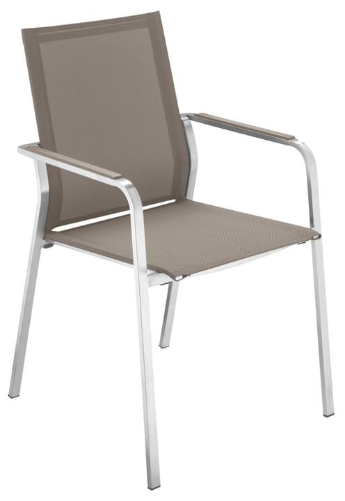 KANO Sedia con braccioli 753148700087 Colore Talpa Taglio L: 56.0 cm x P: 60.0 cm x A: 91.0 cm N. figura 1