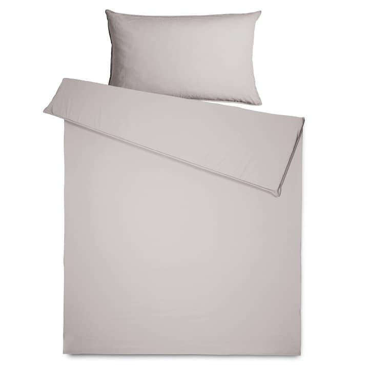 SIENNA Perkal-Duvetbezug 376074912381 Grösse L: 210.0 cm x B: 160.0 cm Farbe Grau Bild Nr. 1