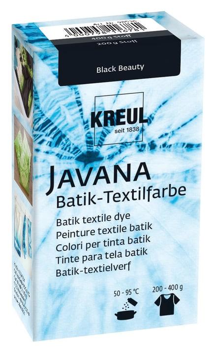 Peinture textile batik noir 666444700000 Photo no. 1