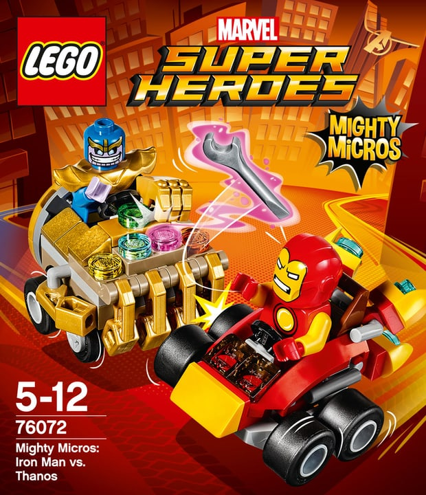 LEGO Marvel Super Heroes Mighty Micros: Iron Man contro Thanos 76072 748838100000 N. figura 1
