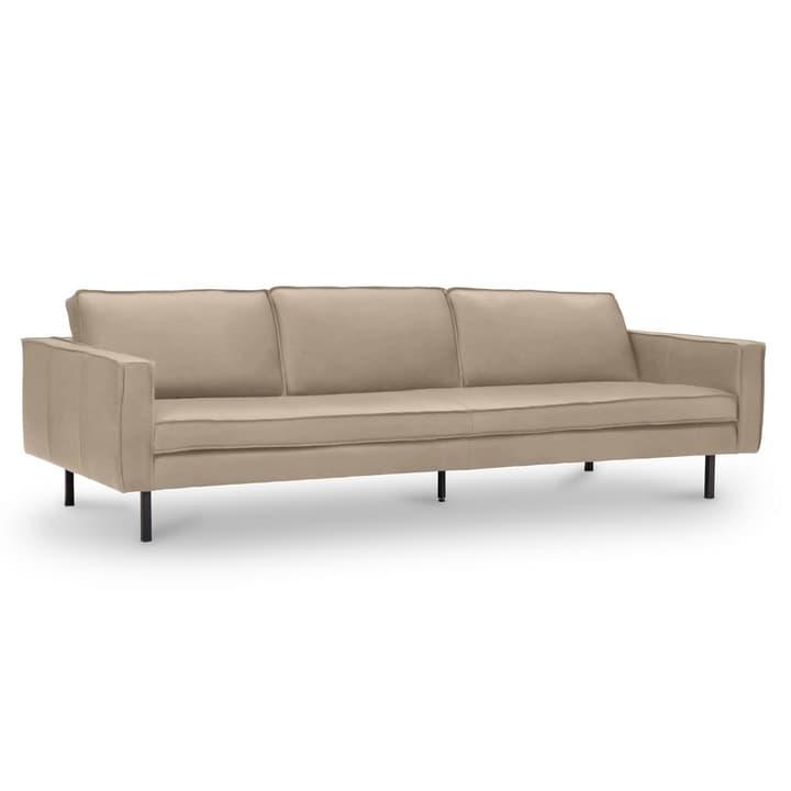 TEXADA canapé en cuir à 4 places 360020328708 Dimensions L: 241.0 cm x P: 95.0 cm x H: 61.0 cm Couleur Taupe Photo no. 1