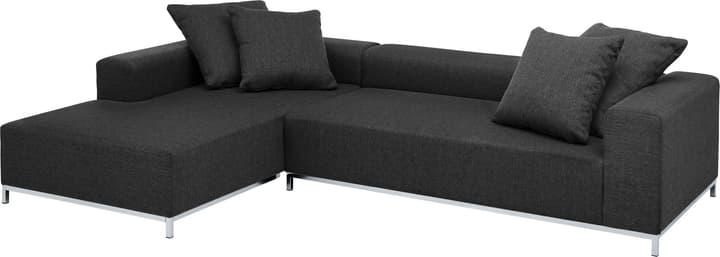MEMPHIS Canapé d'angle 405743250120 Couleur Noir Dimensions L: 290.0 cm x P: 190.0 cm x H: 60.0 cm Photo no. 1