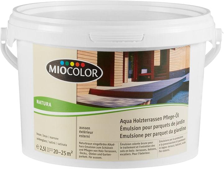 Miocolor Aqua Holzterrassen Pflege Ol Braun 2 5 L Kaufen Bei Do It
