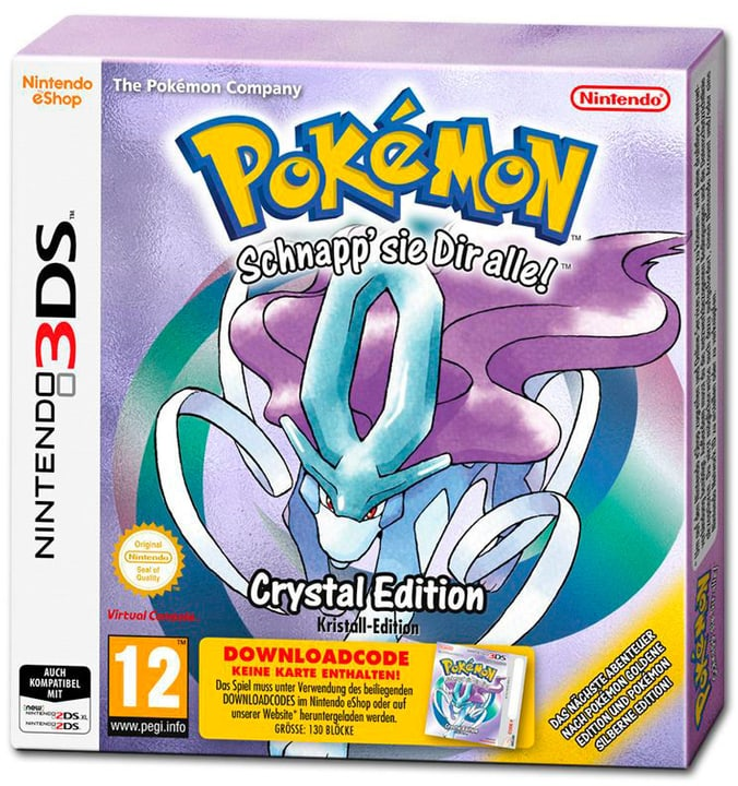 3DS - Pokémon Kristall (Downloadcode) (D) Box 785300131857 Bild Nr. 1