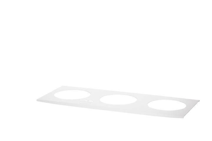 Supporto per vaso Triple Spice 38x13x1cm, bianco 656942600000 N. figura 1