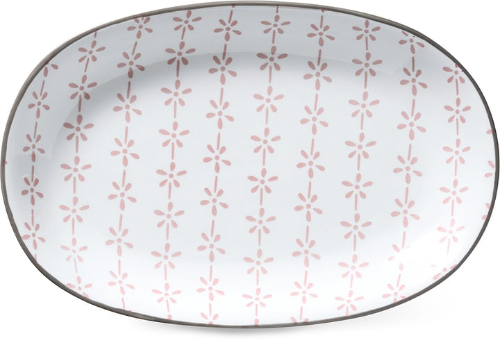CUCINA & TAVOLA Plaque ovale Cucina & Tavola 703617200036 Couleur Rose, Blanc Dimensions L: 23.0 cm x P: 15.5 cm x H: 2.5 cm Photo no. 1