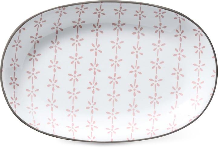Assiette ovale Cucina & Tavola 703617200036 Couleur Rose, Blanc Dimensions L: 23.0 cm x P: 15.5 cm x H: 2.5 cm Photo no. 1