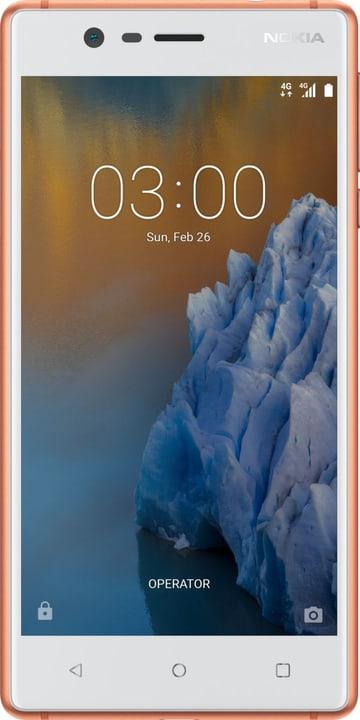3 Single Sim  copper white Smartphone Nokia 785300133239 Bild Nr. 1