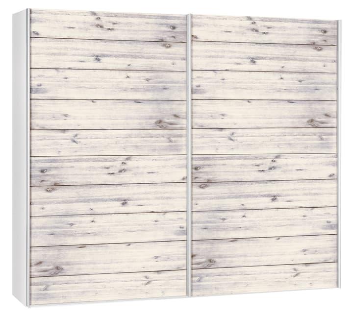 CORELLE Armoire 404443100000 Dimensions L: 252.0 cm x P: 67.0 cm x H: 220.0 cm Couleur Acacia lasuré blanc Photo no. 1