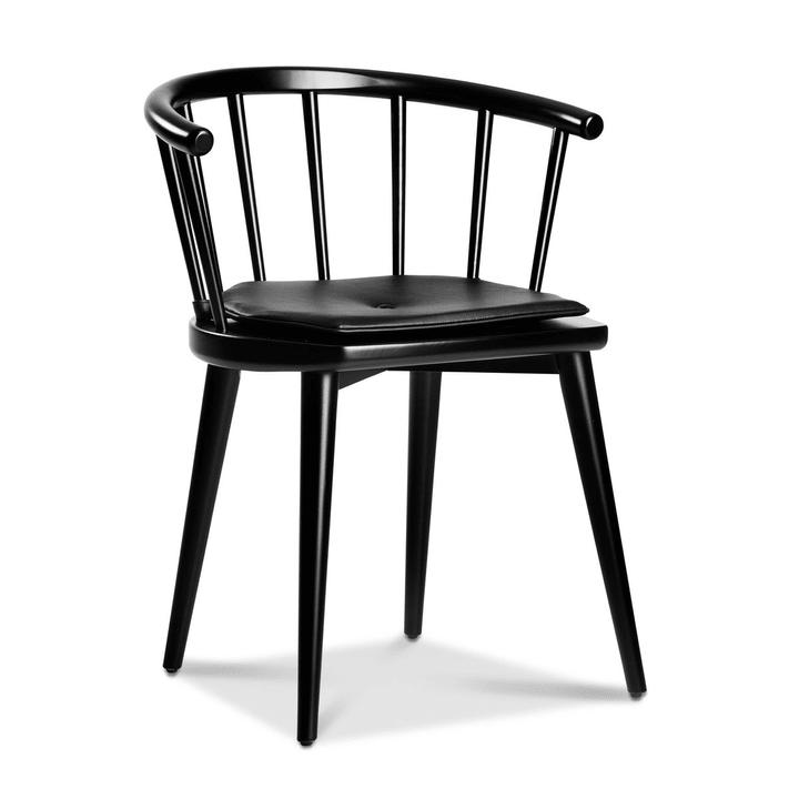 W605 Stuhl schwarz Stuhl 366027070502 Grösse B: 59.5 cm x T: 49.0 cm x H: 72.0 cm Farbe Schwarz Bild Nr. 1
