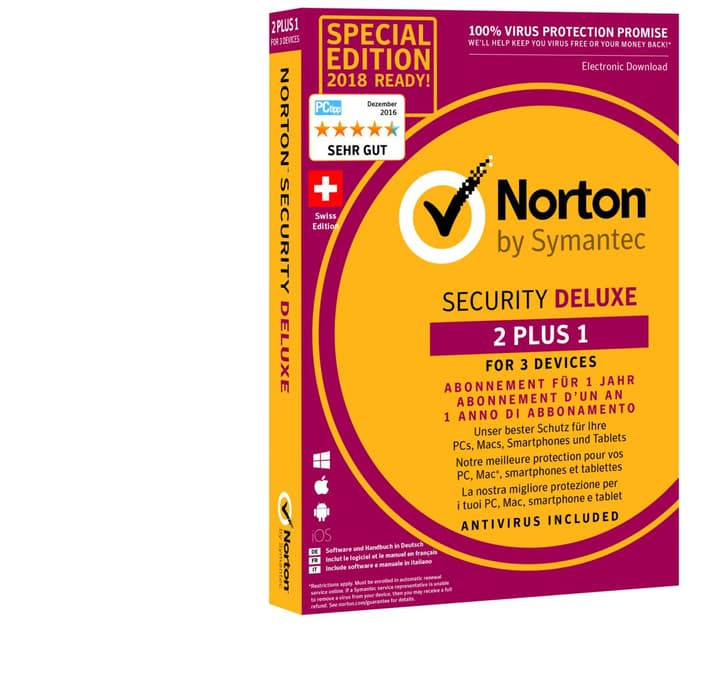 PC/Mac/Android/iOS - Security Deluxe 3.0 Physique (Box) Norton 785300129979 Photo no. 1