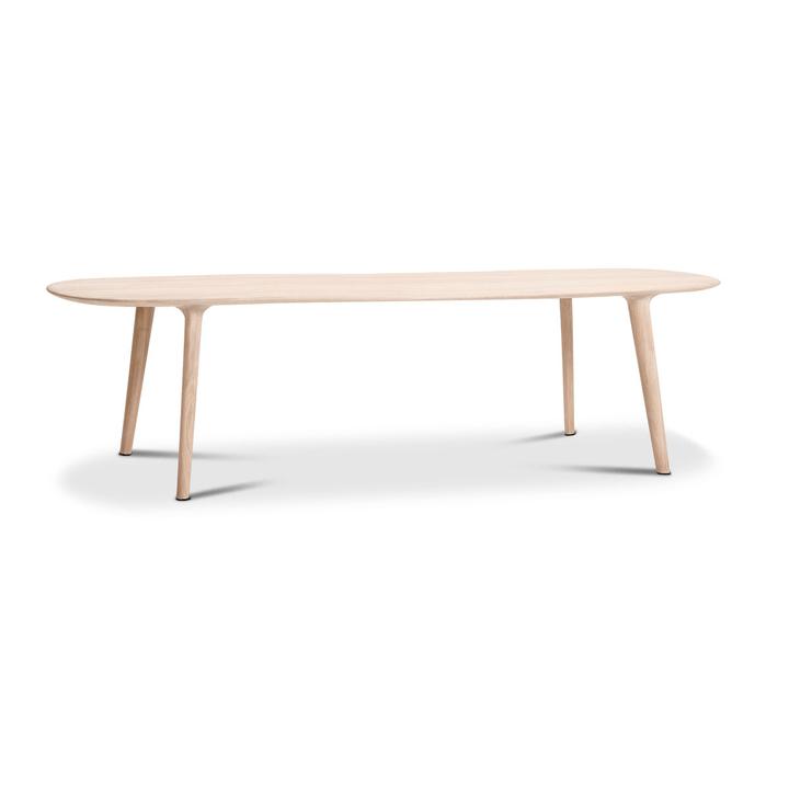 LUC Table frêne 366029618704 Dimensions L: 265.0 cm x P: 100.0 cm x H: 75.0 cm Couleur Frêne Photo no. 1